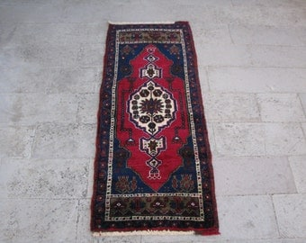 TURKISH RUG-VINTAGE Turkish Rug-Turkish Vintage Rug-Turkish Carpet-Small Size Rug-Doormat-Turkish Doormat Rug-Deep Color Rug-Tribal Rug-Rug