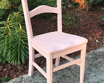 Desk chair - childrens chair - small desk or accent chair - Refinished - Vintage - Custom painted - pictured color is 9-Ballet Slipper/Solid