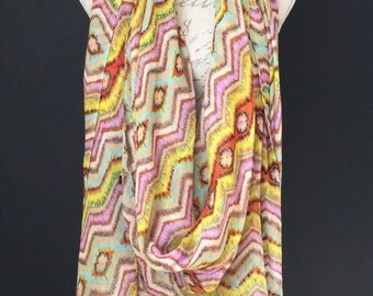 Zig and Zag pastel very oversize Scarf and A Half