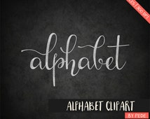 BUY 3 FOR 7 USD, Chalkboard alphabet clipart, digital chalk clipart, digital alphabet, chalk font, alternative letters, instant download