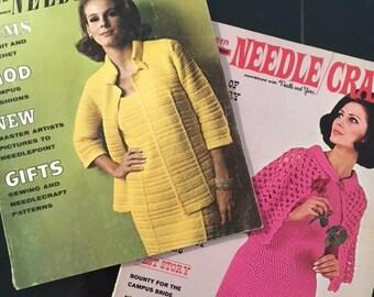 Vintage 1960's Modern Needle Craft Magazines