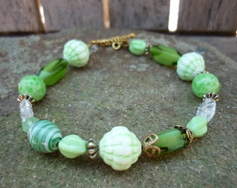 Beaded Bracelet - Vintage Glass Beads