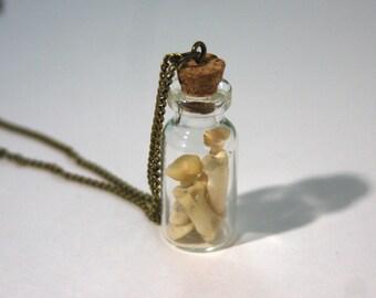 Cat Knuckles Vial Pendant Necklace