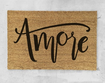 Amore Hand Painted Doormat - Amore Door Mat