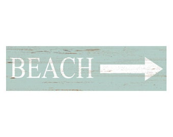 Beach Sign- Beach Sign with Arrow