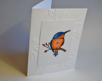 Note cards/Bluebird stamped and colored