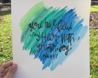 Psalm 4:7- 8.5x11 print