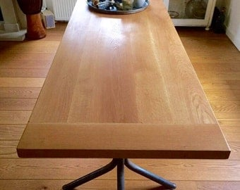 Hand made oak dining table
