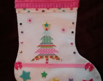 Pastel Sparkler Christmas Stocking