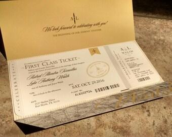 Aviation, Airplane, Travel Themed Wedding Invitation