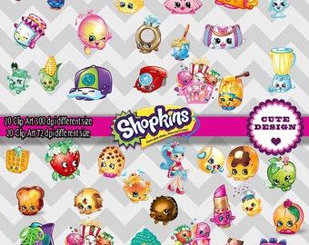 INSTAN DOWLOAD: Clipart Shopkins, Image Shopkins, clipart Shopkins 300 dpi, clipart Shopkins 72 dpi