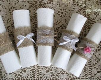 50 Burlap Napkin Rings. Rustic Wedding Decor Wedding Napkin Ring Rustic Wedding Napkin Rings Wedding Table Decor Rustic Wedding Napkin Rings