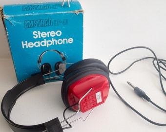Retro Amstrad HP40 stereo headphones