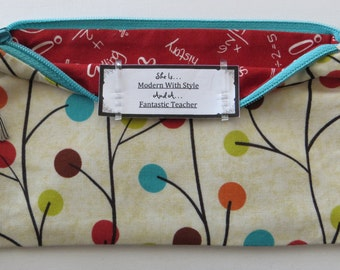 Persette #50 Personalized Zippered Organizing Pouch