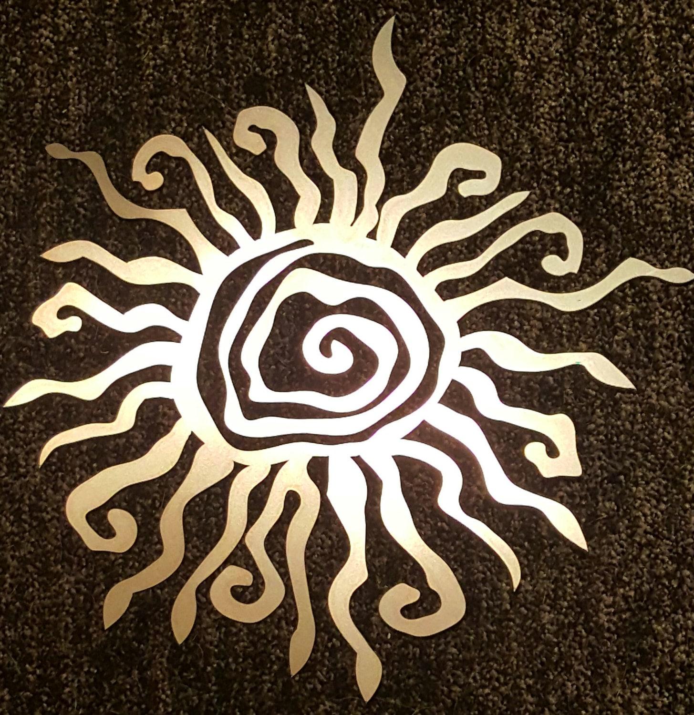 Rustic sun metal wall decor for Sun wall art