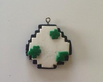 Polymer Clay Pixel Yoshi Egg
