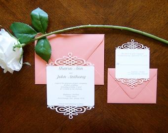 Laser Cut Elegant Grace Wedding Invitation