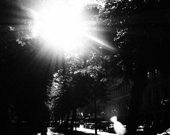 Helsinki Sunburst Black & White Photographic Print in Mount