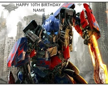 """TRANSFORMERS A4 11"""" X 8"""" rectangle edible personalised birthday cake topper toppers icing sheet rice paper wafer card"""