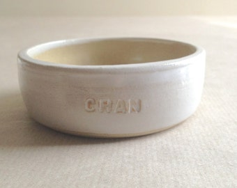 Personalised Pet Bowls - Handthrown Stoneware - Made to Order
