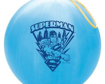 Sale, Superman Punch Ball, Punch Ball, Stocking Stuffer, Party Favor, Birthday Party, Birthday Party Favor, Kids Toy, Superman Theme