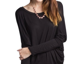 New Dolman Long Sleeve Rayon Jersey Top (Made in USA)