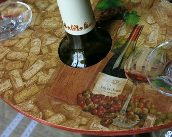 Housewarming gift Gift for 2 Wine glasses holder Wedding anniversary gift Wine decor Romantic dinner Decoupage home decor Wine cork theme