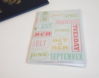 Passport Cover, Months of the Year, Passport  Sleeve, Case, Holder
