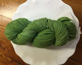 Green Kettle Dyed Wool Yarn