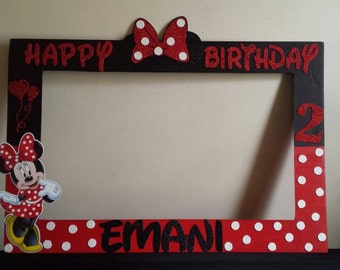 Minnie Mouse Photo Prop Red & Black  20 x 30 inches