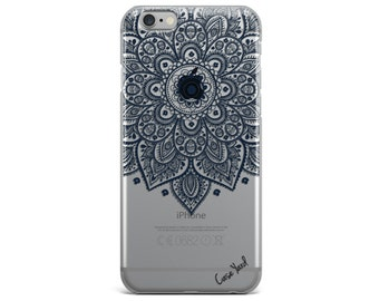 Clear iPhone 7 case, mandala iphone 6 case mandala iphone 7 case clear iphone case clear iphone 6 case clear Samsung S7 Lara Mandala