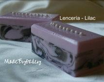 Lenceria - Lilac. Luxury handmade soap. Sandalwood fragrance. Shea Butter Cocoa Butter Mango Butter Honey Jojoba Oil