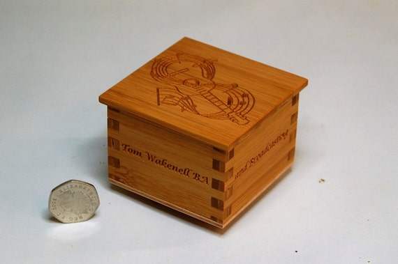 Box - Tiny Wooden, Personalised Box