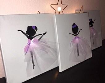 Purple Ballerina Canvas