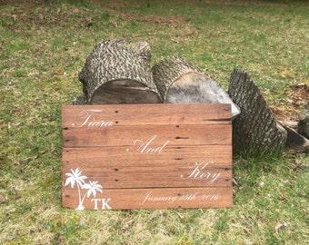 Custom Wedding Sign on Wood