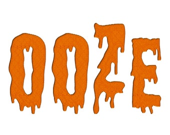 Halloween Ooze Machine Embroidery Font Monogram Alphabet, BX Embroidery, Instant Download Embroidery Designs, Multiple Formats