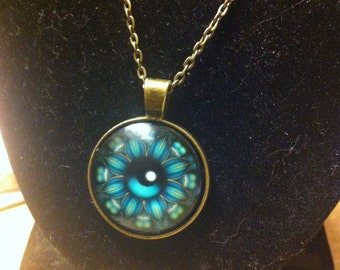 Necklace Blue eyes Heitong cabochon
