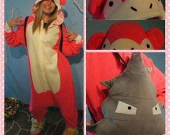 Slowbro Pokemon Inspired Kigurumi/Adult Onesie-Pokemon Cosplay, Pokemon Gift, Pokemon Lovers, Slobrow Gift, Pokemon PJs, READY TO SHIP