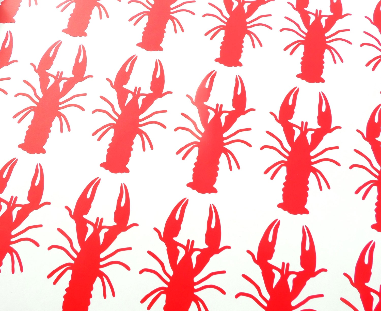 30 vinyl crawfish stickers, crawfish decals, under the sea party, removable wallpaper, lobster ...