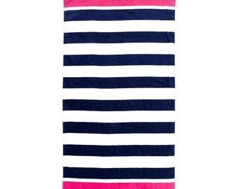 Stripe Beach Towel - Free Embroidery