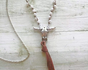 BULL HEAD NECKLACE