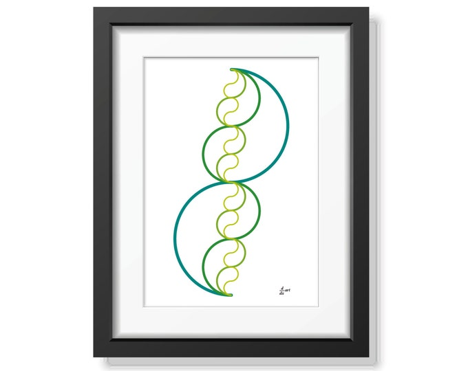 Pi me a river 06 [mathematical abstract art print, unframed] A4/A3 sizes