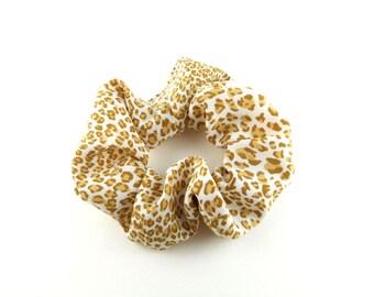 Scrunchie - vintage style - leopard animal cat motif