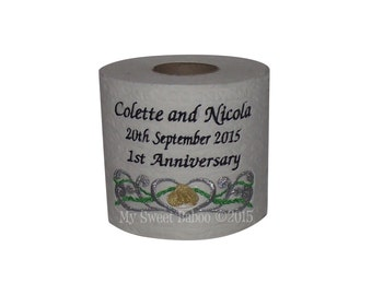 Personalised Toilet Roll - Ideal 1st Wedding Anniversary Gift