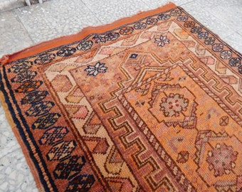 Extra Long Caucasian Pattern Rug Runner, Vintage Handwoven  Pale Faded Color Hallway Carpet,Staircaase Carpet 3'1'' X 16'11'' / 93 X 516 cm