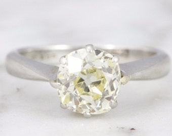 Melanie 1.38 ct Old Mine Cut Solitaire Engagement Ring