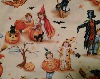 Halloween Fabric Vintage Style 1 yard cotton