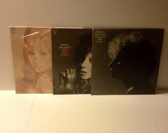 Barbra Streisand (bundle of 3) vinyl record LP albums