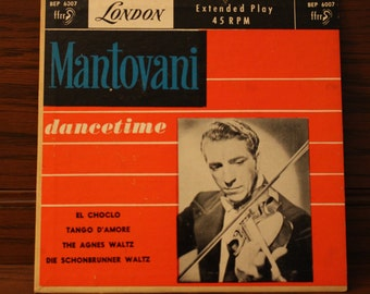 Mantovani dancetime 45 rpm record