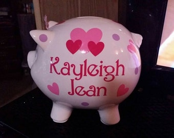 Ceramic Personalized Piggy Bank